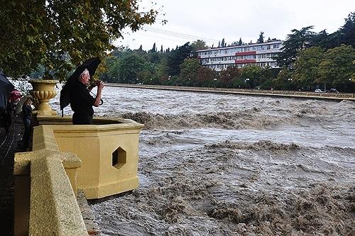 Наводнение в Сочи. Река Сочи