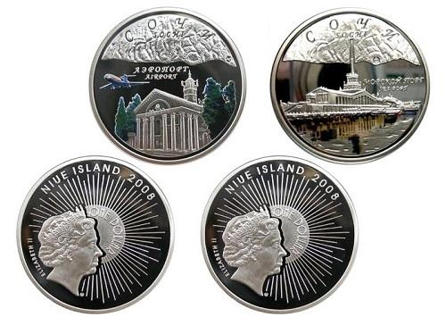Сувениры Сочи 2014. Монета государства Ниуэ