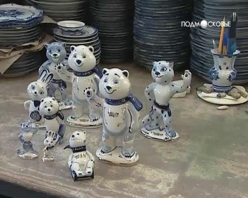 Сувениры Сочи 2014. Стиль гжель