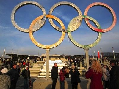 Олимпийский парк в Сочи. Олимпийские кольца