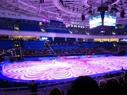 Олимпийский парк в Сочи. Сиреневый лед