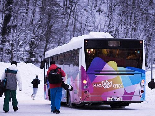 Роза Хутор. Автобус