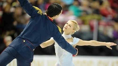 Командные соревнования по фигурному катанию. Пара Татьяна Волосожар — Максим Траньков