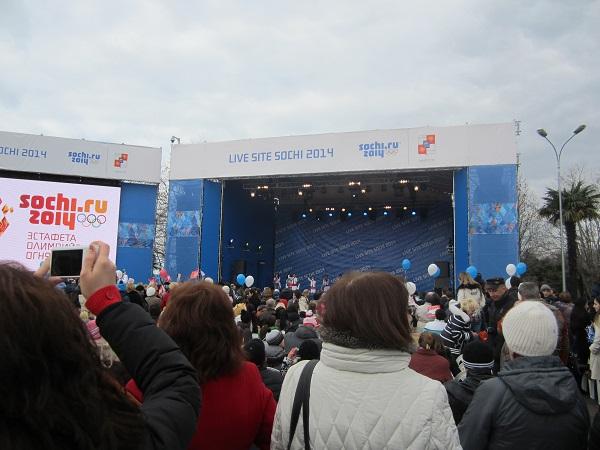 Олимпийский огонь в Адлере. Live Site Sochi