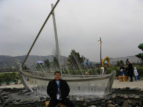 Олимпийский парк. Лодочка-фонтан