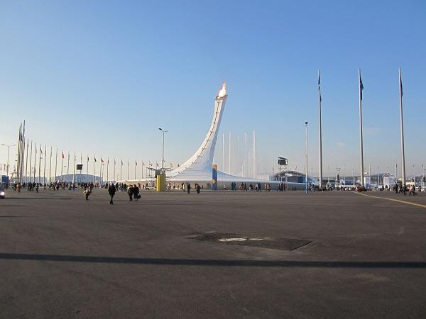 Олимпийский парк.  Олимпийский огонь