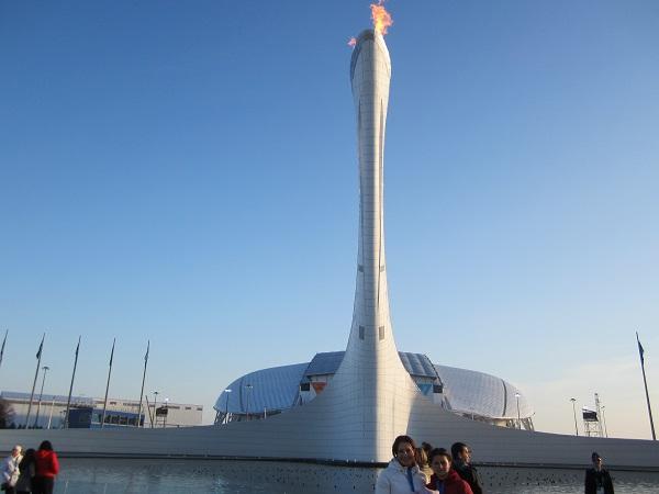 Олимпийский парк. Олимпийский огонь2