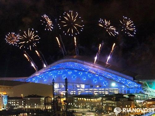 Репетиция церемонии открытия Олимпийских игр. Салют