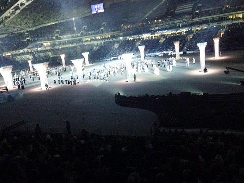 Репетиция церемонии открытия Олимпийских игр. Шпионское фото