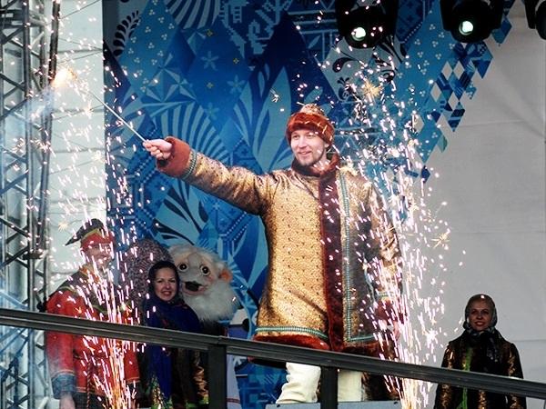 Эстафета Паралимпийского огня.  Курск