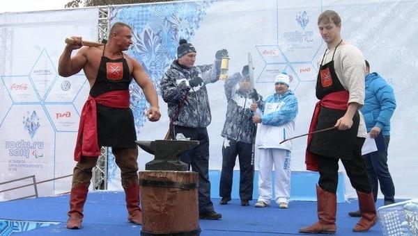 Эстафета Паралимпийского огня. Тула