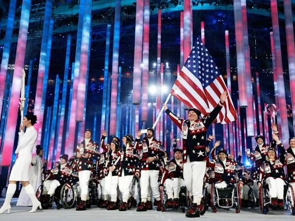 Церемония открытия Паралимпийских игр. Сборная США
