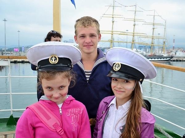СКФ Черноморская регата больших парусников-2014.  Морячки