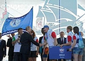 СКФ Черноморская регата больших парусников-2014. Награждение экипажа Акелы