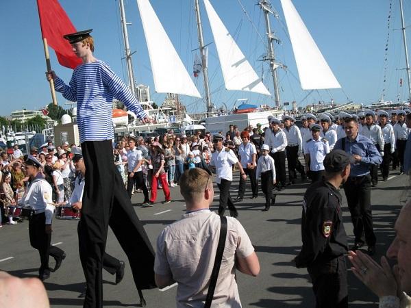 СКФ Черноморская регата больших парусников-2014.  Парад
