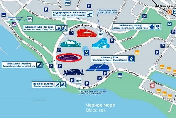 Формула-1. Схема Олимпийского парка