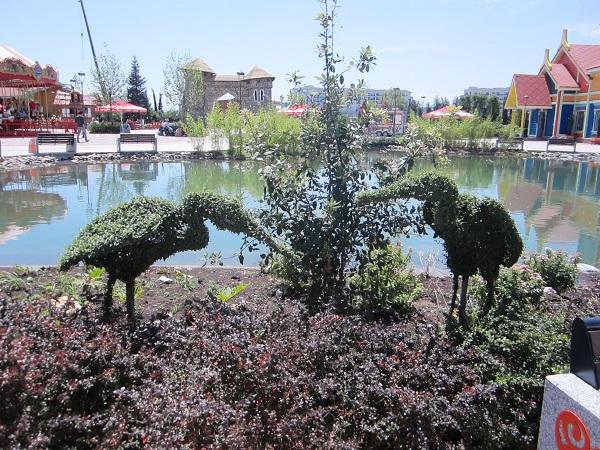 Олимпийский парк, Сочи Парк. Зеленые скульптуры
