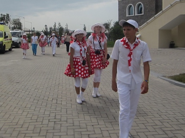 Олимпийский парк в День защиты детей. Новолеушковский интернат
