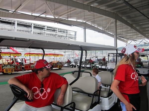 Олимпийский парк в День защиты детей. Прокат гольф-каров
