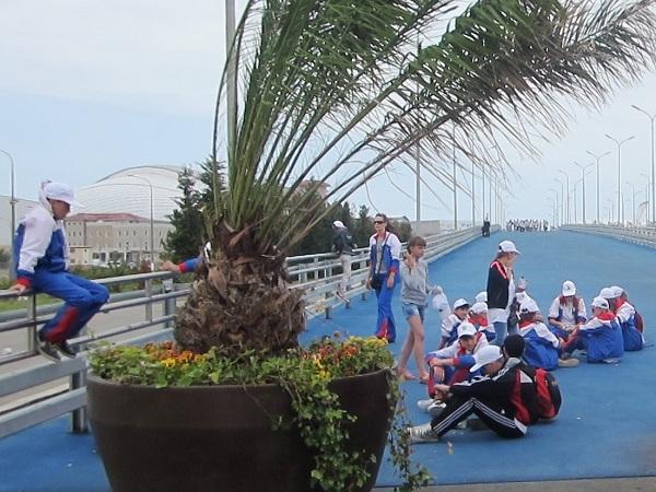 Олимпийский парк в День защиты детей. Устали