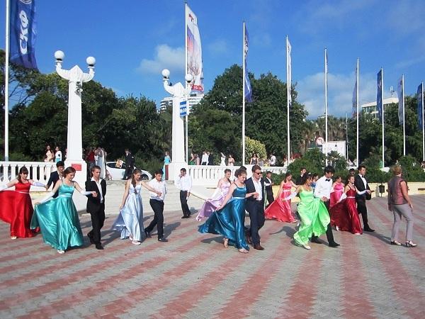 Выпускной бал в Сочи. Репетиция