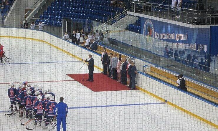 Открытие детского спортивно-оздоровительногоцентра на стадионе Шайба