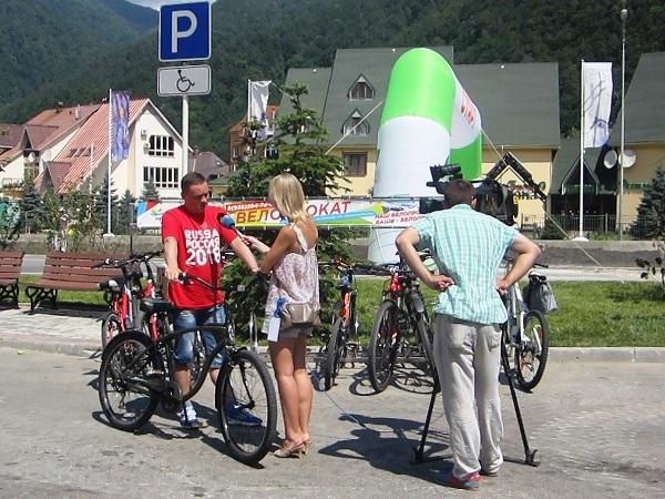 Велопробег Адлер-Красная Поляна. Интервью