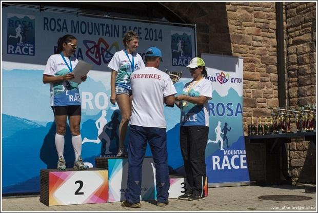 Гонка Rosa Mountain Race. Награждение