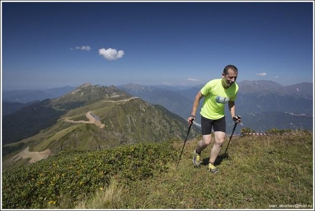 Гонка Rosa Mountain Race. Один из участников2