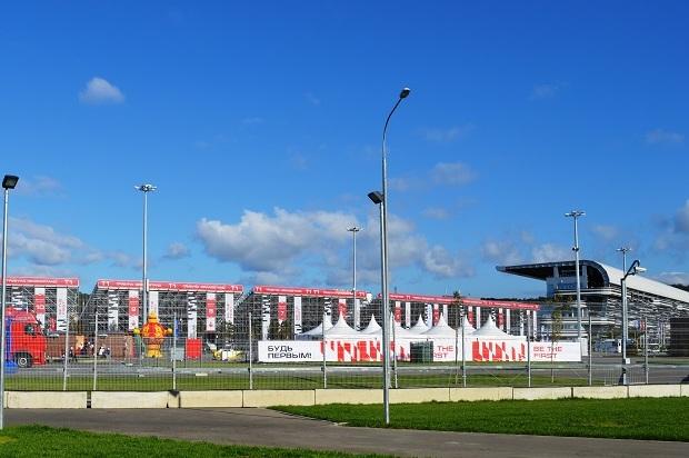 Автомобильный музей в Олимпийском парке. Трибуны Формулы-1
