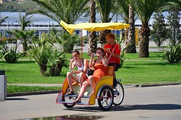 Рикша в Олимпийском парке