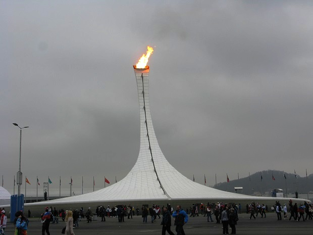 Сочи, год после игр. Олимпийский огонь