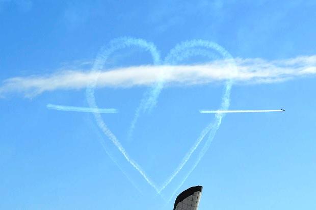 Авиашоу в Олимпийском парке. Сердце