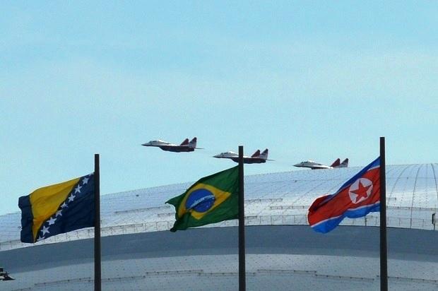 Авиашоу в Олимпийском парке. Стрижи