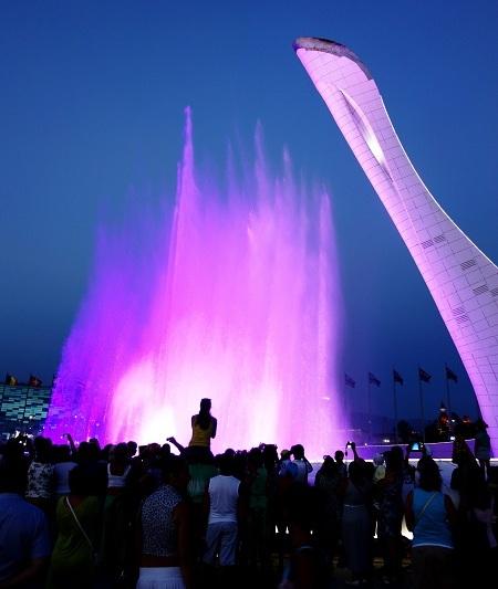 События в Сочи. Олимпийский фонтан