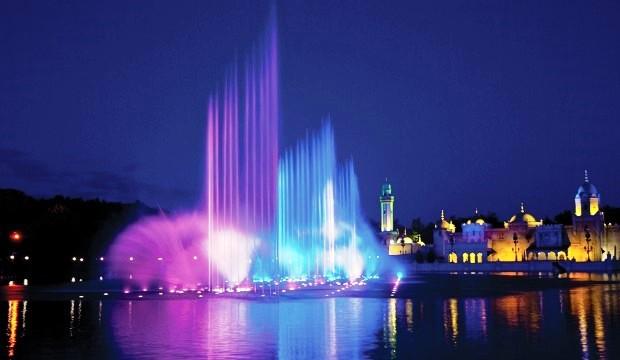 Зимний режим работы Олимпийских фонтанов. Акванура в Эфтелинге