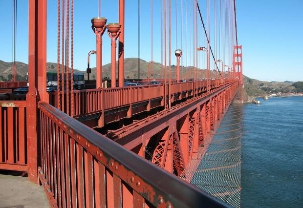 Мост Золотые ворота. Антисуицидальное ограждение