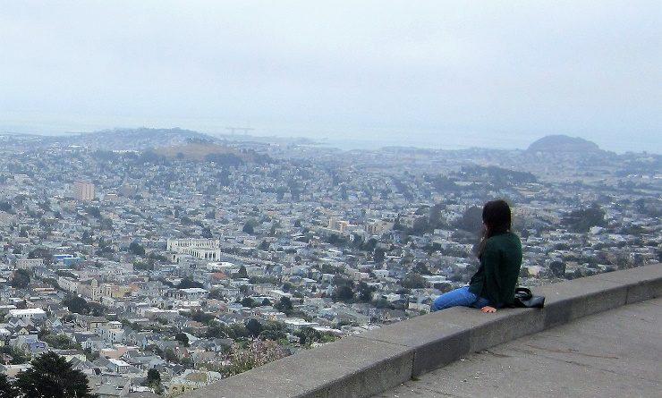 Сан-Франциско. Твин Пикс и мост Золотые ворота.
