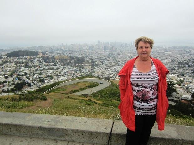 Сан-Франциско. Твин Пикс. Вид на город и я