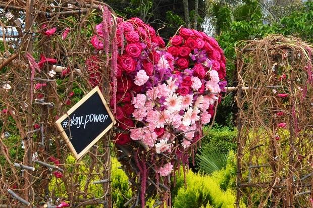 Праздник цветов в Сочи.  Сердце