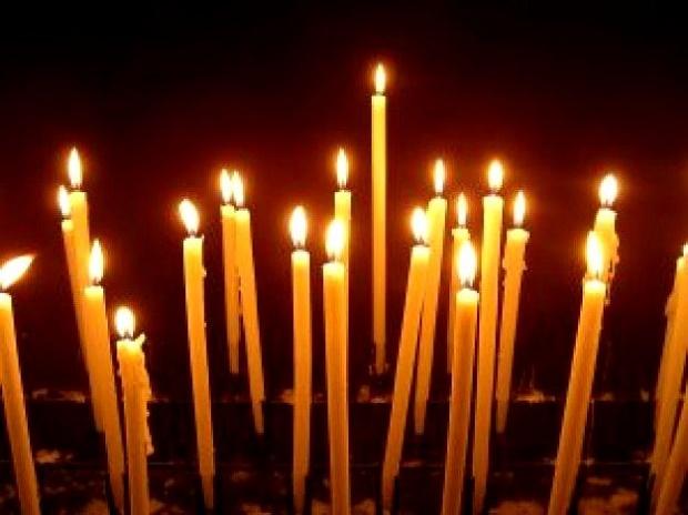 Свеча памяти. Церковные свечи