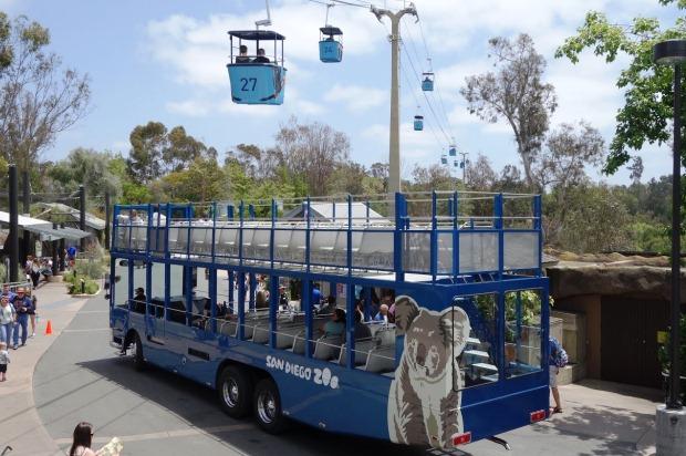 Зоопарк в Сан-Диего. Автобус и фуникулер