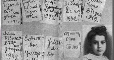 Дневник Савичевой Тани