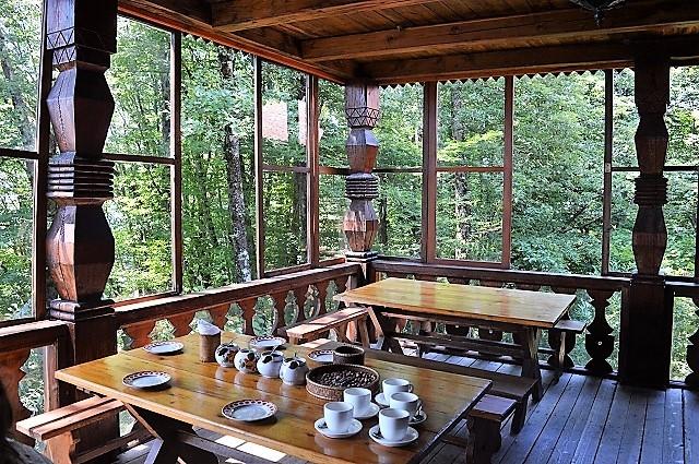 Чайные домики Сочи. Веранда