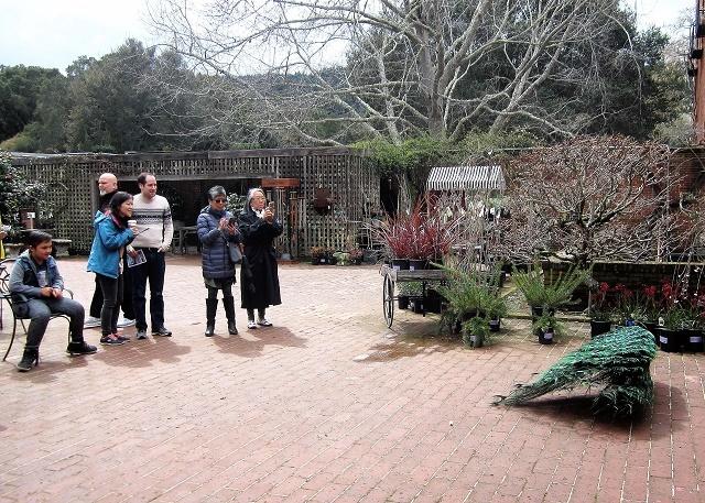 Сады Филоли. Посетители1