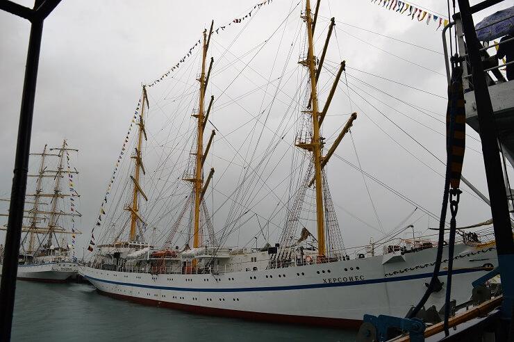 На борту парусника Херсонес