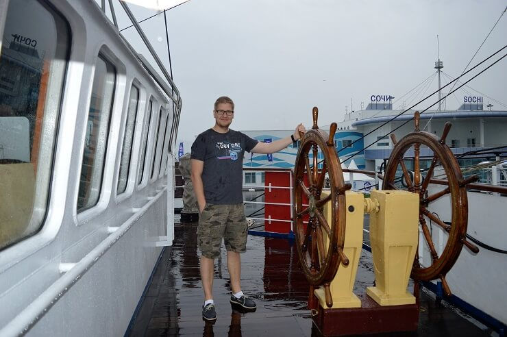 На борту парусника Херсонес1