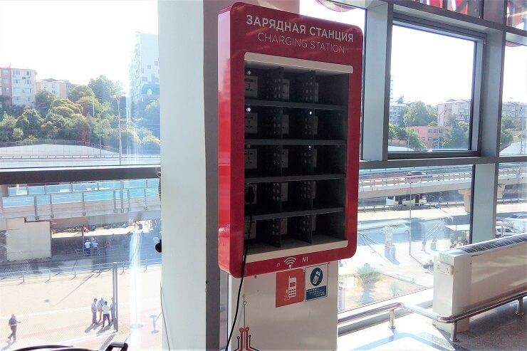 Зарядная станция на ЖД вокзале Адлер