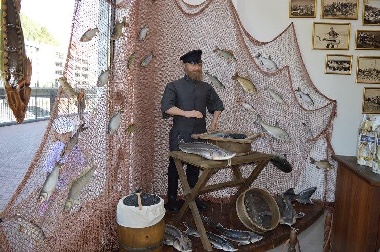 Оформление рыбного магазина на Розе Хутор