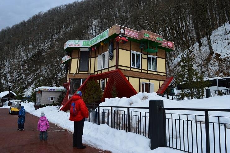 Дом-перевертыш в Красной Поляне